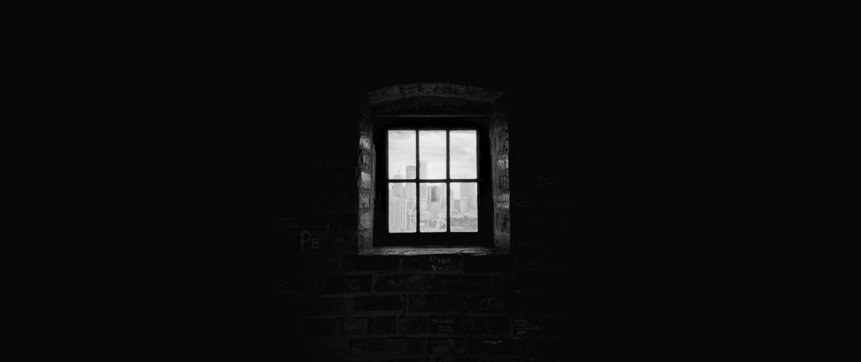 dark room with window