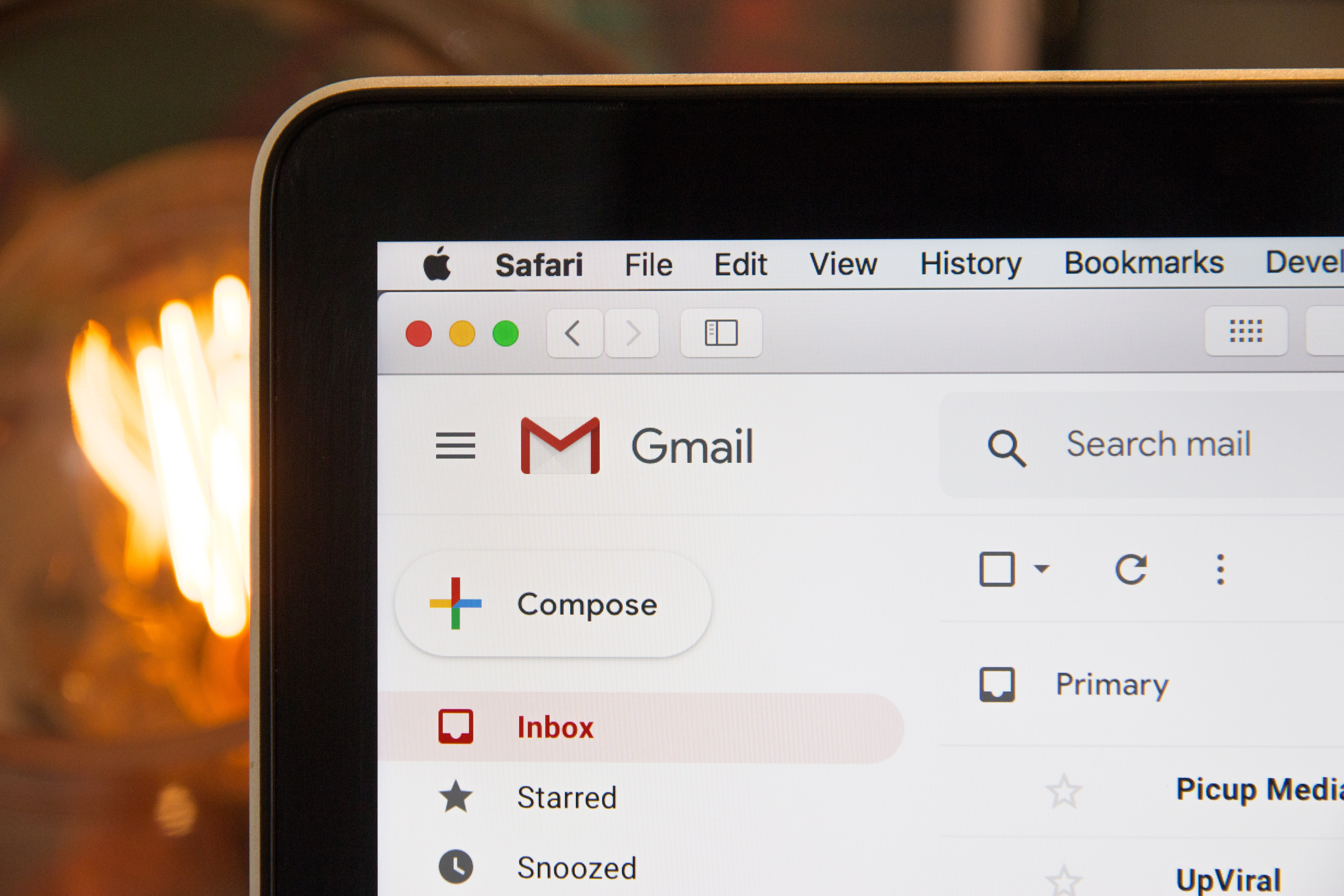 Gmail on a computer screen