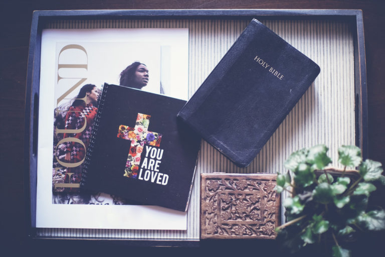 Bible and picture frame